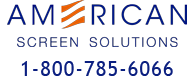 American Screen Solutions Sticky Logo